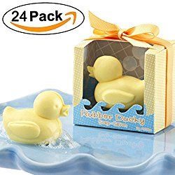 Aistore Cute Mini 24 Pieces Soap for Wedding Soap Favors and Gifts or Baby Shower Soap Favors,Duck