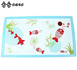BBCare® Baby Non-Slip Bath Mat with Heat Sensitive Spot-Red Fish(15.7*27.6in)