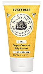 Burt's Bees Baby Bee Cream To Powder, 4 Ounces (Pack of 3)