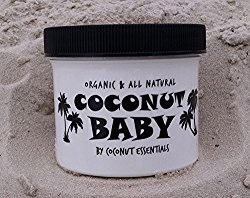 Coconut Baby 4 oz – Organic Baby Oil – Best All Natural treatment for Cradle Cap, Eczema, Stretch Marks, Psoriasis, and Diaper Rash