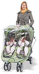 Comfy Baby! Universal Double Jogging Stroller Waterproof Rain Cover/Wind Shield
