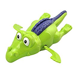 Cute Animal Design Clockwork Swimming Crocodile Bath Toy for Children Baby Shower Gift 2 Pack