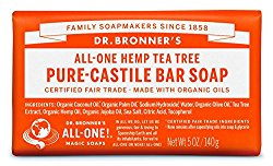 Dr. Bronner's Organic Pure Castile Bar Soap – Tea Tree – 5 oz