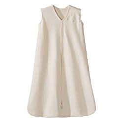 HALO SleepSack 100% Cotton Wearable Blanket, Cream, Medium