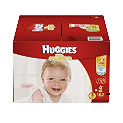 Huggies Little Snugglers Baby Diapers, Size 3, 162 Count (Packaging May Vary) (One Month Supply)