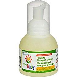 Lafe's Natural and Organic Baby Foaming Shampoo and Wash – 12 fl oz