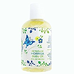 Mummy's Miracle Hypoallergenic, All Natural Moringa Baby Oil Non-Greasy No Parabens, Pediatrician Recommended, 4 oz