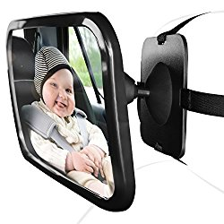 OxGord Baby Back Rear Car Seat Mirror Shatterproof  Safely See Your Child Infant for SUV Truck Van | Newly Designed 2016