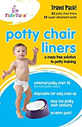 Tidy Tots Disposable Potty Chair Liners – Travel Pack XL – 32 Liners and 32 Super-Absorbent Pads, White