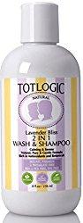 TotLogic 2 in 1 Wash & Shampoo – Lavender Bliss, 8 oz, No Sulfates, No Phthalates