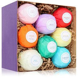 8 Bath Bombs Gift Set – USA Made