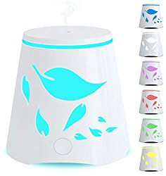 Aromatherapy Essential Oil Diffuser 7 Color Changing Led Lights – Portable Ultrasonic Cool Mist Humidifier – Auto Shutoff Best Aroma Diffusers For Home Office Kids and Spa up to 800 sq ft room