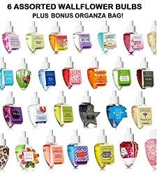 Bath & Body Works – Grab Bag Assorted Bundle of SIX (6) Wallflower Bulbs