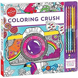 Coloring Crush by The Editors Of Klutz, Illustrations By Angelea Van Damm