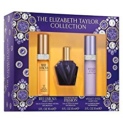 Elizabeth Taylor 3 Pc. Fragrance Set, White Diamonds, Passion, Violet Eyes