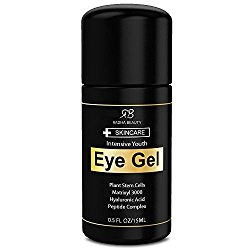Eye Cream for Puffiness, Dark Circles, Wrinkles & Bags – The most effective eye gel for every eye concern – All Natural Ingredients – .5 fl oz