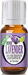 French Lavender 100% Pure, Best Therapeutic Grade Essential Oil – 10ml