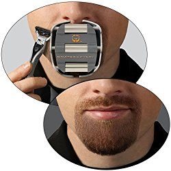 GoateeSaver – The Goatee Shaving Template – Create a Perfectly Shaped Goatee Every Time – Easy to Use and Easy to Clean – Adjustable and Fits Most Face Sizes – Saves Shaving Time