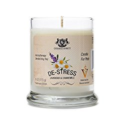 Lavender & Chamomile Aromatherapy Deodorizing Soy Candle For Pets, Pet Odor Eliminator & Animal Lover Gift – 6 OZ (170 g)