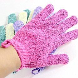 Moonmini® 4 Pair Set Scrubbing Exfoliating Gloves