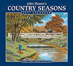 John Sloane's Country Seasons 2017 Deluxe Wall Calendar
