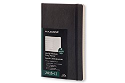 Moleskine 2016-2017 Weekly Notebook, 18M, Large, Black, Soft Cover (5 x 8.25)