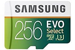 Samsung 256GB EVO Select Micro SDXC Memory Card, 95MB/s (MB-ME256DA/AM)