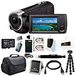 Sony HD Video Recording HDRCX405 HDR-CX405/B Handycam Camcorder (Black) + Son…