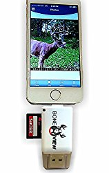 BoneView Trail and Game Camera Viewer, Micro lighnting connector Reads SD, SDHC and Micro SD Cards for Apple iPhone, iPad, iPod
