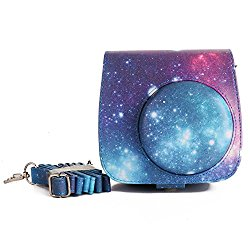 [Fujifilm Instax Mini 8 Case] – Nodartisan First Generation Galaxy Starry Sky PU Leather Case Bag for Instax Mini 8/8+ Camera – Film Count Show Design