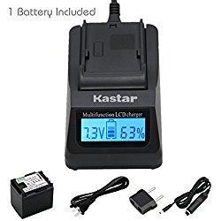 Kastar Ultra Fast Charger(3X faster) Kit and BP-819 Battery (1-Pack) for Canon VIXIA HF10, HF11, HF20, HF21, HF100, HF200, HF G10