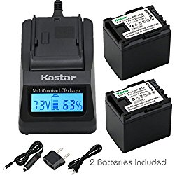 Kastar Ultra Fast Charger(3X faster) Kit and BP-819 Battery (2-Pack) for Canon BP-819, CG-800