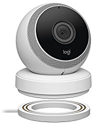 Logitech Circle Wireless 1080p Video Battery Powered Security Camera with 2-way Talk (White)