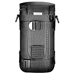 Neewer® NW-L2070 Black Padded Water-Resistant Lens Pouch Bag Case with Shoulder Strap for 70-200mm Lens, Such as Canon 70-200/2.8IS, 100-400, 180mm / Nikon 70-200, 80-400, 180-2.8