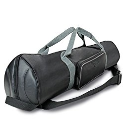 Padded Tripod Case Bag with Expandable Compartment & Accessory Storage – by USA GEAR – works with Vista , Ravelli , Dolica , Manfrotto & More – Holds Tripods from 21″ to 35″ Folded