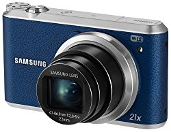 Samsung WB350F – 16.3MP BSI CMOS, 21X Optical Zoom, 3-inch LCD touchscreen, 1080p HD Video, Smart WiFi and NFC Digital Camera – Blue