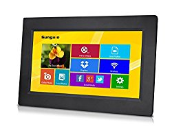 Sungale CPF1032 10″ Smart Wi-Fi Cloud Digital Photo Frame with touch screen operation, free Cloud storage, real-time photos, Movie, Social Media, Browser, all apps