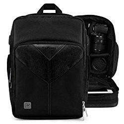 VanGoddy Sparta Onyx Black Professionals Camcorder Backpack for Canon XF200 , XC10 , XF105 , XA35 , XA30, XF100 , XA25 , XA20 , XA10 Camcorders