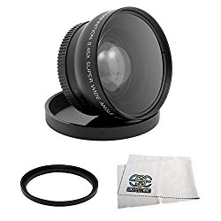 WIDE ANGLE MACRO LENS FOR THE JVC GZ-HD300 GZ-HD320 Everio High Definition Hard Disk Camcorder
