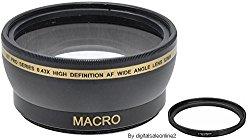 Xit 52mm 0.43x Wide Angle Lens for Canon Vixia HF R700, HF R600, HF R72, HF R70, HF R62, HF R60, HF M500, HF M400, HF M52, HF M50, HF M42, HF M40, HV40, HV30, HV20
