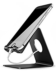 Cell Phone Stand, Lamicall S1 iPhone Stand : For all Android Smartphone, iPhone Tablet – Black