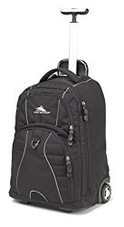 High Sierra Freewheel Wheeled Book Bag Backpack, Black