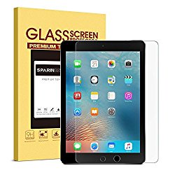 iPad Pro 9.7 Screen Protector, SPARIN [Tempered Glass] [.3mm / 2.5D] [Ultra Clear High Definition] Screen Protector for iPad Air, iPad Air 2, iPad Pro 9.7 inch (2016 Version),