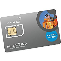 BlueCosmo Inmarsat IsatPhone 100 Unit Prepaid SIM Card for IsatPhone Pro and IsatPhone 2 Satellite Phones