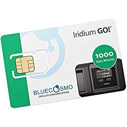 BlueCosmo Satellite Iridium GO! 1000 Data Minute 1 Year Prepaid Card