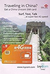 China SIM Card 1GB 4G LTE data + 50 mins local calls or 100 texts, Free Shipping! Free Incoming Calls and Texts