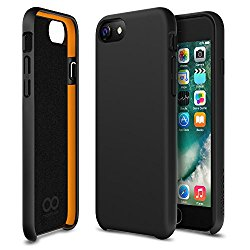 iPhone 7 case, Maxboost SnapPro Heavy Duty Cases [GXD Impact Gel] EXTREME Shock-Absorption Thinnest Hard PC Covers Soft Touch Finish For Apple iPhone 7 2016 & iPhone 6s/6s – Jet Black