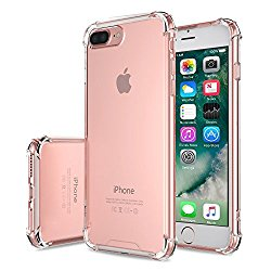 iPhone 7 Plus Case – MoKo Advanced Shock-absorbent Scratch-resistant Cover Case with Transparent Hard PC Back Plate and Flexible TPU Gel Bumper for Apple iPhone 7 Plus 5.5″ 2016 Release, Crystal Clear