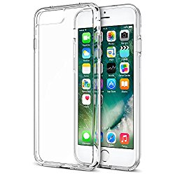 iPhone 7 Plus Case, Trainium [Clarium Series] Premium Shock Absorption TPU Bumper Cushion + Scratch Resistant Clear Protective Cases Hard Cover for Apple iPhone 7 Plus 2016 – Clear (TM000027)