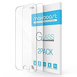 iPhone 7 Plus Screen Protector, Maxboost 2 Pack Tempered Glass Screen Protector For Apple iPhone 7 Plus / iPhone 6/6s Plus [3D Touch Compatible] 0.2mm Screen Protection Case Fit – Clear